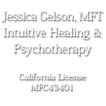 Jessica Gelson MFT Intuitive Healing and Psychotherapy